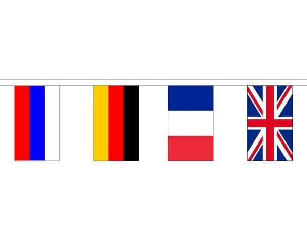 European Country Mixed Bunting (8m) - 28 Flags