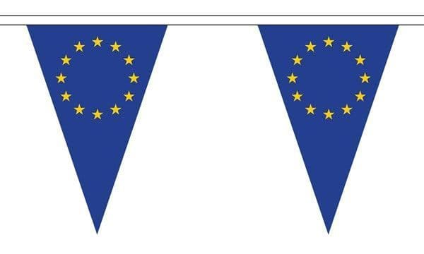 European Union Triangle Bunting (5m) - 12 Flags