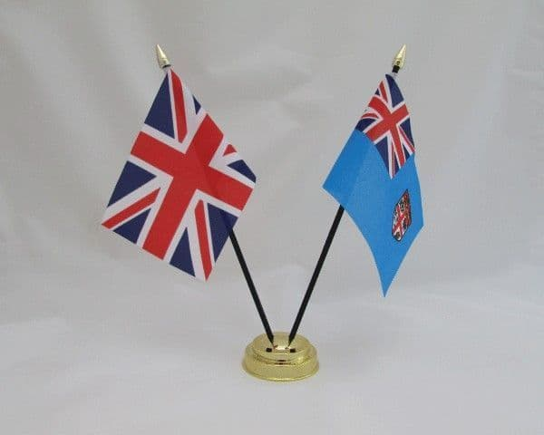 Fiji with UK Friendship Table Flag