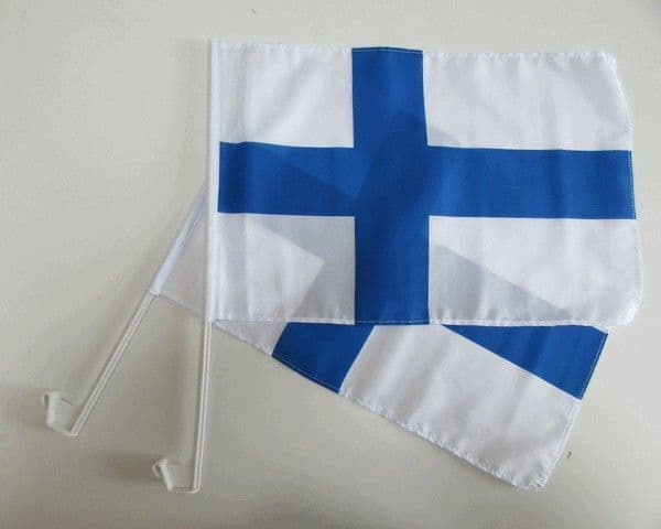 Finland Car Flag - 2 Pack