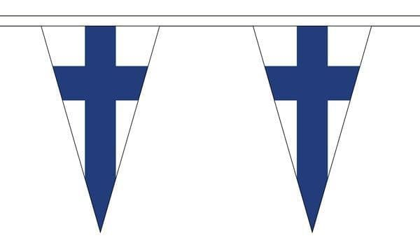 Finland Triangle Bunting (5m) - 12 Flags
