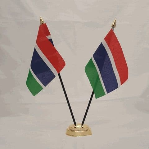 Gambia Double Table Flag