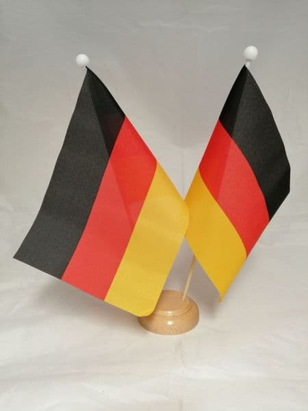 Germany Double Wooden Table Flag