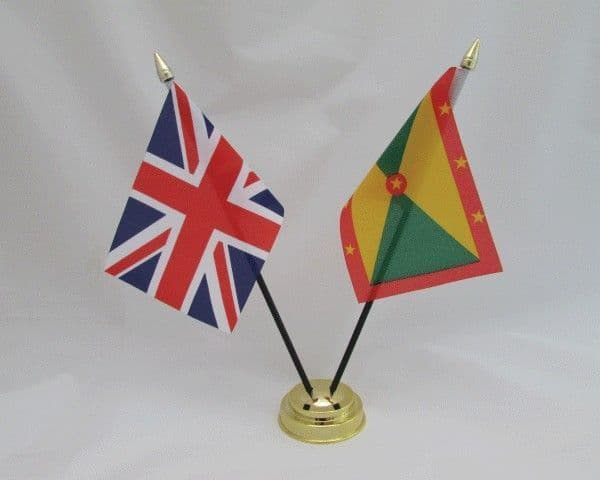 Grenada with UK Friendship Table Flag