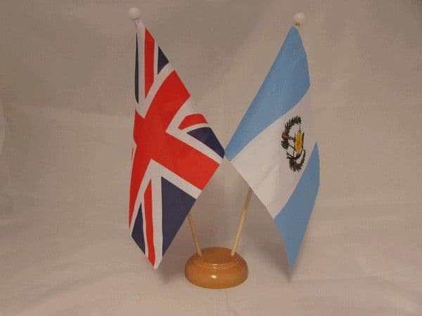 Guatemala Friendship Wooden Table Flag