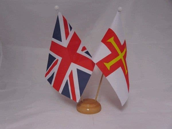 Guernsey Friendship Wooden Table Flag