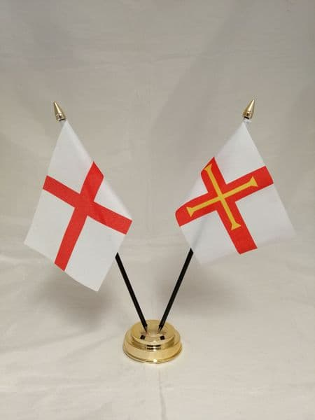 Guernsey with England Friendship Table Flag