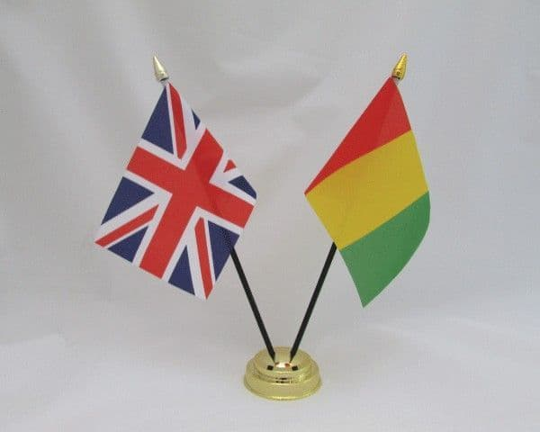Guinea with UK Friendship Table Flag