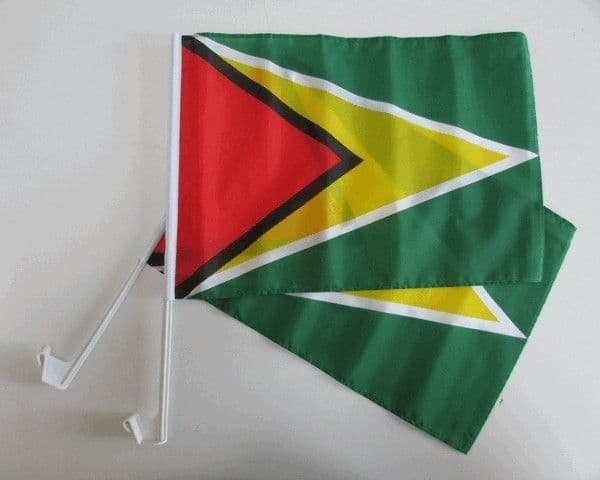 Guyana Car Flag - 2 Pack