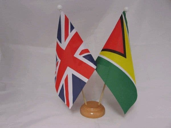 Guyana Friendship Wooden Table Flag