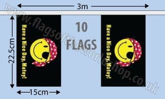 Have A Nice Day Matey Vertical Bunting (3m)