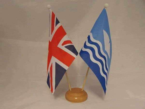 Isle of Wight Friendship Wooden Table Flag