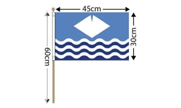 Isle of Wight Large Hand Flag (18