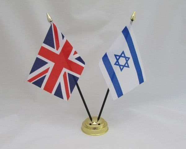 Israel with UK Friendship Table Flag