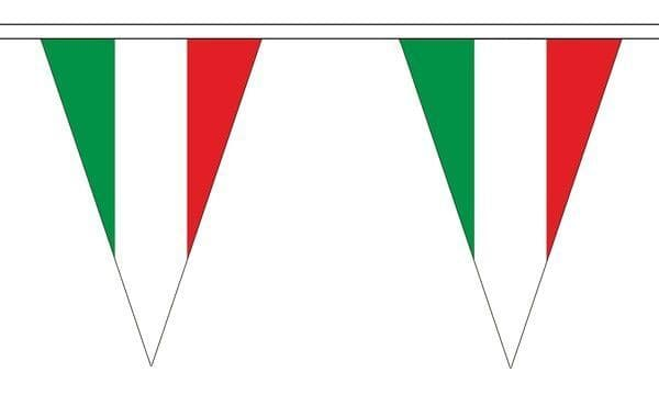 Italy Triangle Bunting (20m) - 54 Flags