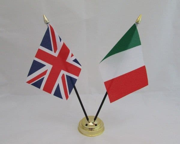 Italy with UK Friendship Table Flag