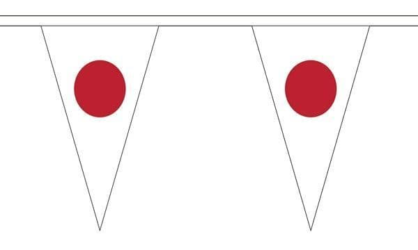 Japan Triangle Bunting (5m) - 12 Flags