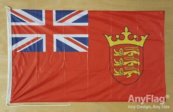 Jersey Red Ensign 5ft x 3ft Flag Rope & Toggle