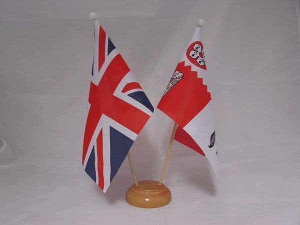 Leicestershire Friendship Wooden Table Flag