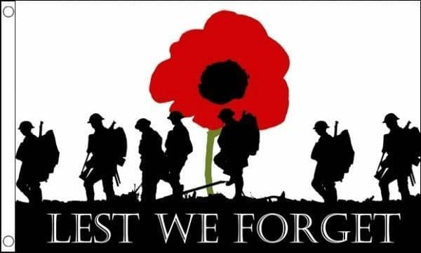 Lest We Forget (Army) Heavy Duty 5ft x 3ft Flag