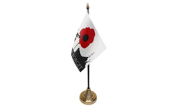 Lest We Forget (Navy) Table Flag