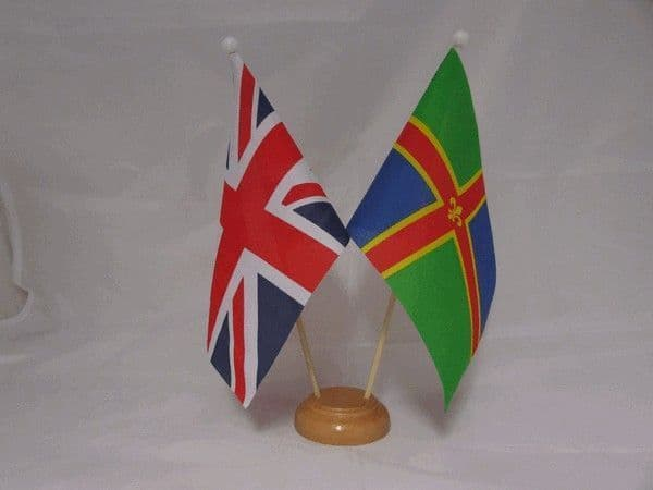 Lincolnshire Friendship Wooden Table Flag