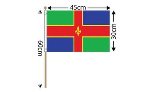 Lincolnshire Large Hand Flag (18