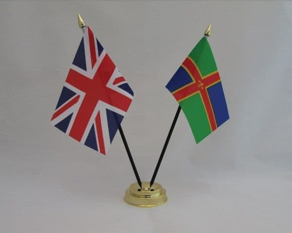 Lincolnshire with UK Friendship Table Flag