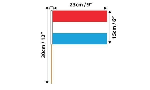 Luxembourg Hand Flag