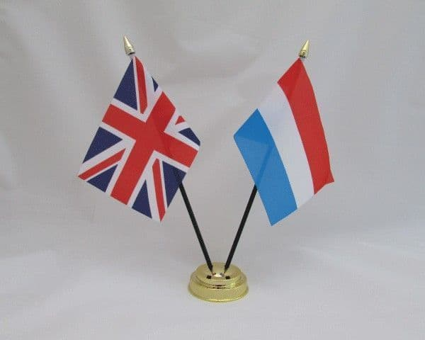 Luxembourg with UK Friendship Table Flag