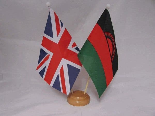 Malawi Friendship Wooden Table Flag