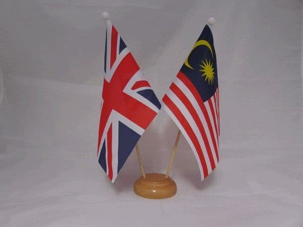 Malaysia Friendship Wooden Table Flag