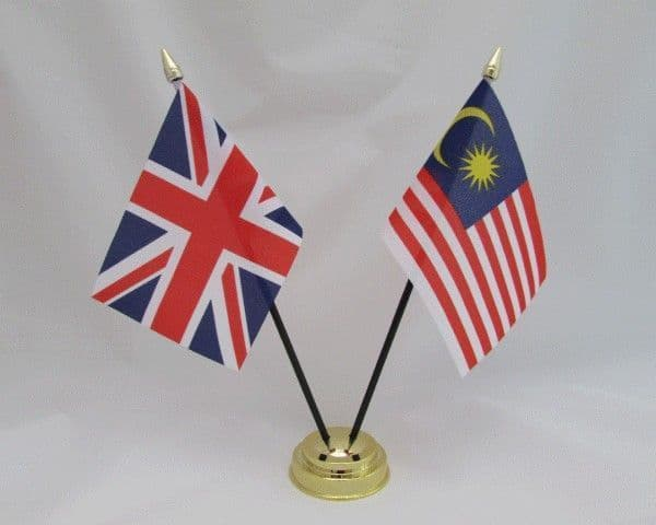 Malaysia with UK Friendship Table Flag
