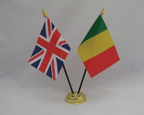 Mali with UK Friendship Table Flag