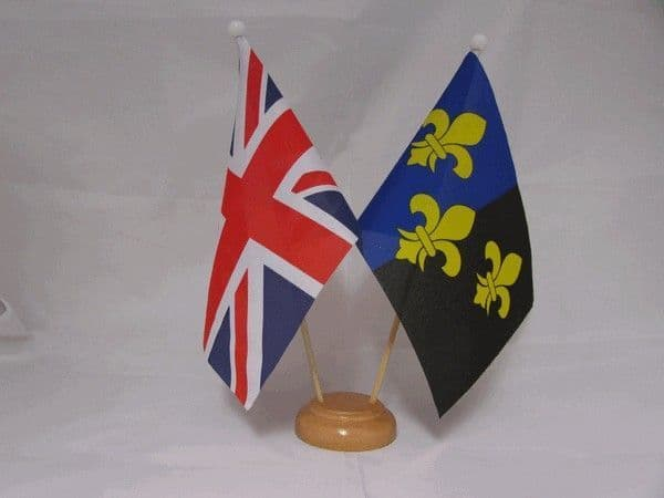 Monmouthshire Friendship Wooden Table Flag