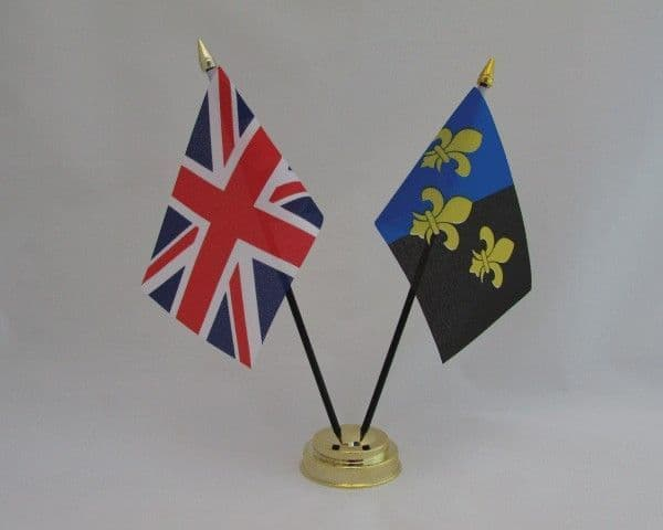 Monmouthshire with UK Friendship Table Flag