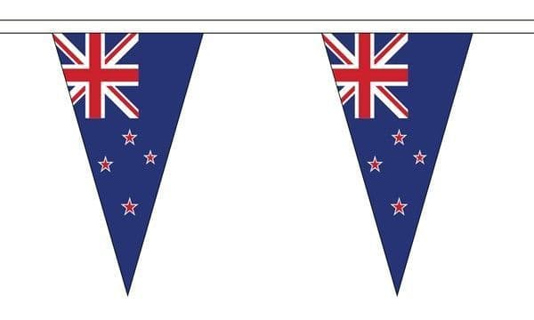New Zealand Triangle Bunting (5m) - 12 Flags