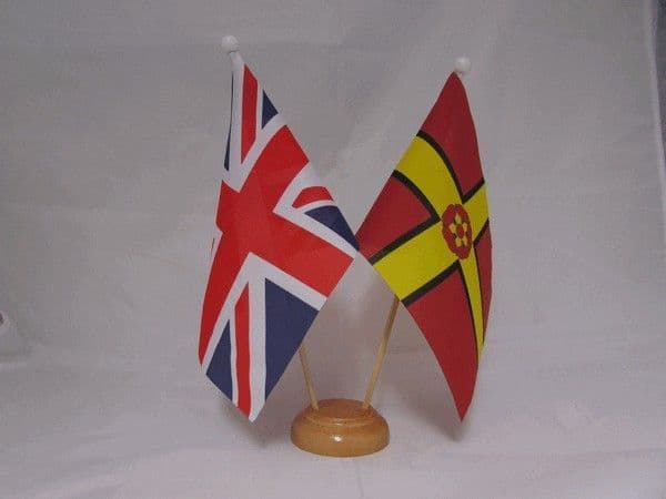 Northamptonshire Friendship Wooden Table Flag
