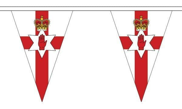 Northern Ireland Triangle Bunting (20m) - 54 Flags