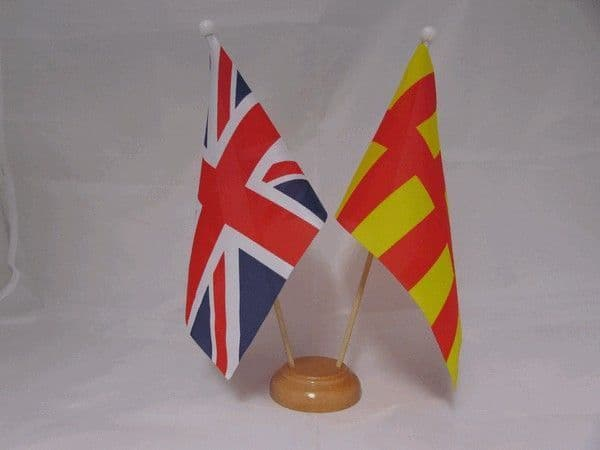 Northumberland Friendship Wooden Table Flag