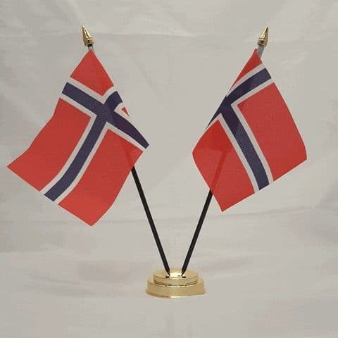 Norway Double Table Flag