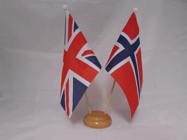 Norway Friendship Wooden Table Flag