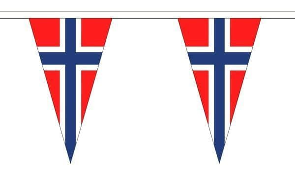 Norway Triangle Bunting (20m) - 54 Flags