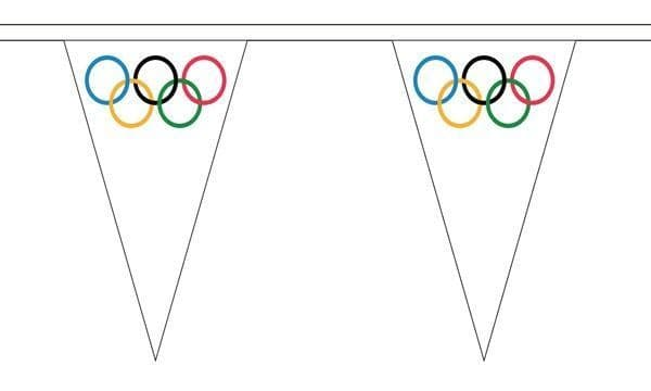 Olympic Triangle Bunting (5m) - 12 Flags