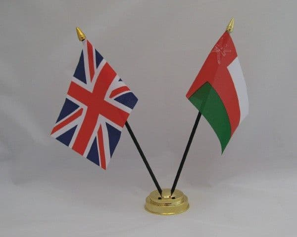 Oman with UK Friendship Table Flag