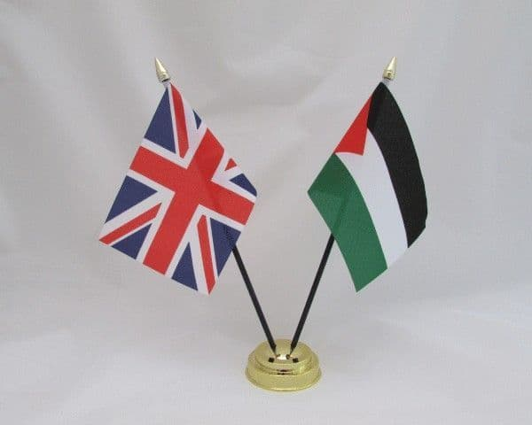 Palestine with UK Friendship Table Flag