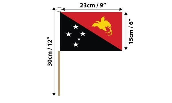 Papua New Guinea Hand Flag