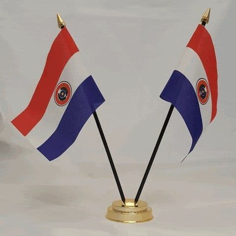 Paraguay Double Table Flag