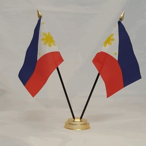 Philippines Double Table Flag
