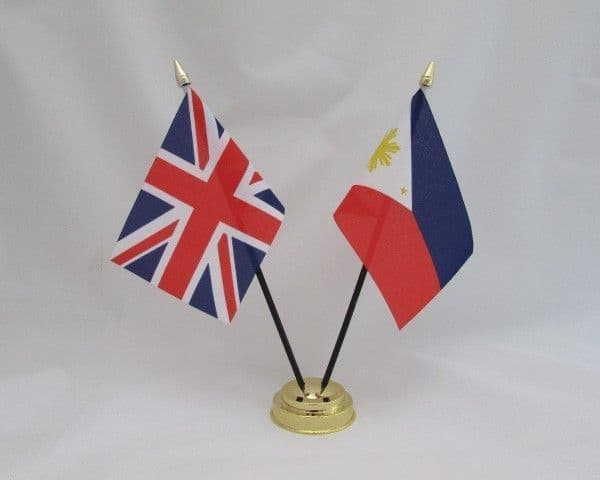 Philippines with UK Friendship Table Flag